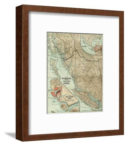 Map of the Grand Trunk Pacific Railway In British Columbia, c.1910--Framed Art Print