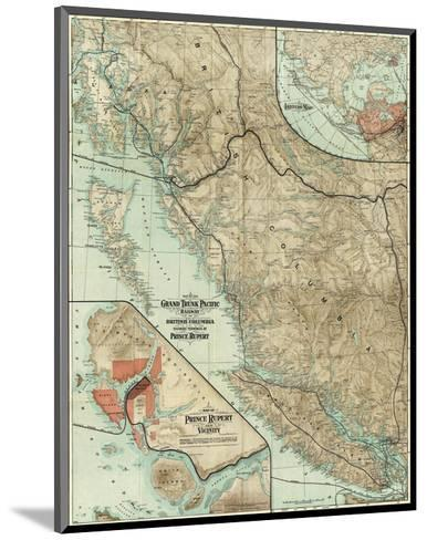 Map of the Grand Trunk Pacific Railway In British Columbia, c.1910--Mounted Art Print