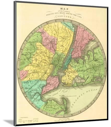 Map of the Country Twenty Five Miles Round the City of New York, c.1848-Jeremiah Greenleaf-Mounted Art Print