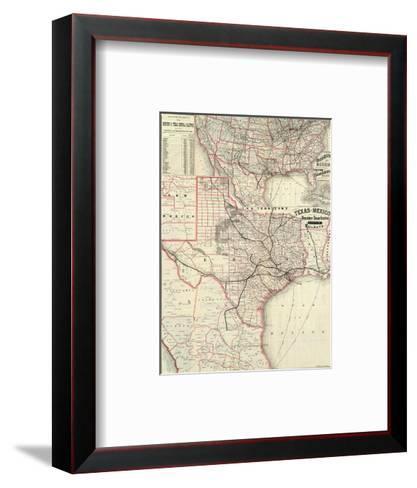 Texas and Mexico, Houston and Texas Central Railways, c.1885--Framed Art Print