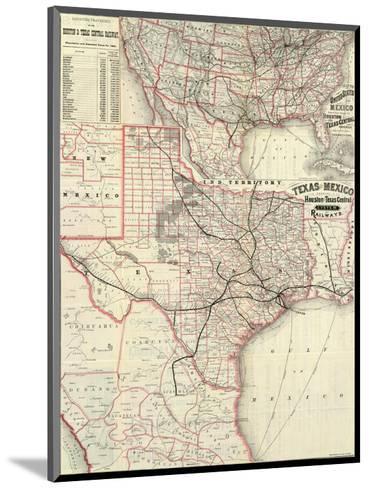 Texas and Mexico, Houston and Texas Central Railways, c.1885--Mounted Art Print