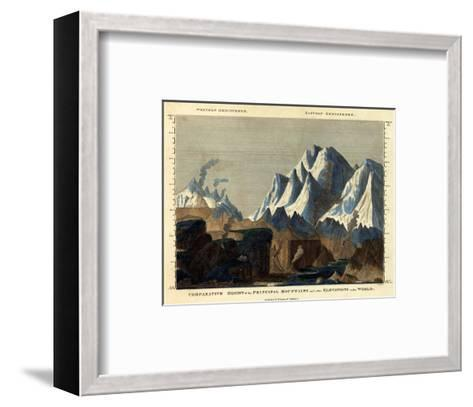 Comparative Height of the Principal Mountains in the World, c.1823-Fielding Lucas-Framed Art Print