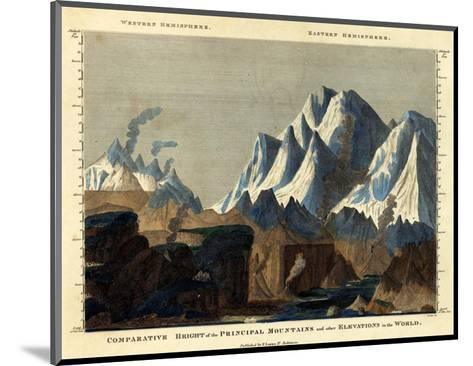 Comparative Height of the Principal Mountains in the World, c.1823-Fielding Lucas-Mounted Art Print