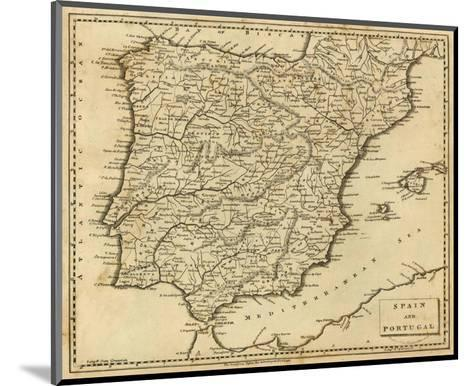 Spain, Portugal, c.1812-Aaron Arrowsmith-Mounted Art Print