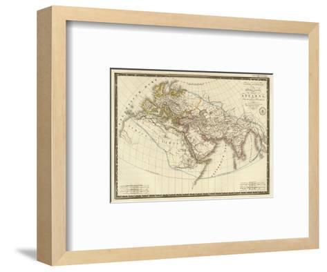 Monde Connu des Anciens, c.1821-Adrien Hubert Brue-Framed Art Print