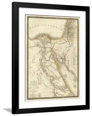 Egypte Ancienne, Palestine, Arabie Petree, c.1822-Adrien Hubert Brue-Framed Art Print