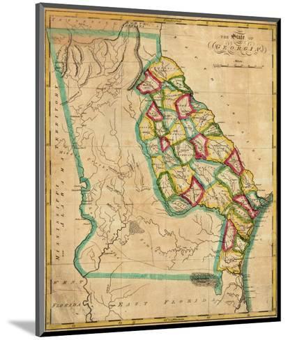 State of Georgia, c.1827-Robert Desilver-Mounted Art Print