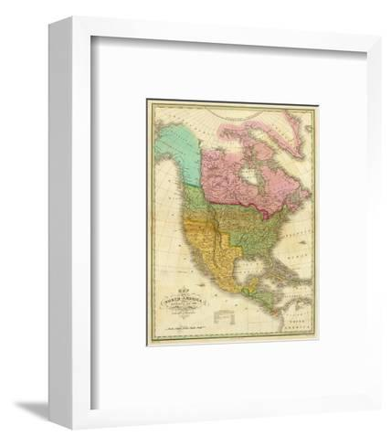 Map of North America Including All the Recent Geographical Discoveries, c.1826-Anthony Finley-Framed Art Print
