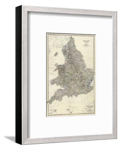 Composite: England, Wales, c.1861-Alexander Keith Johnston-Framed Art Print