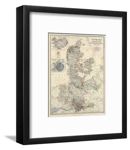 Denmark, Hanover, Brunswick, Mecklenburg, Oldenburg, c.1861-Alexander Keith Johnston-Framed Art Print