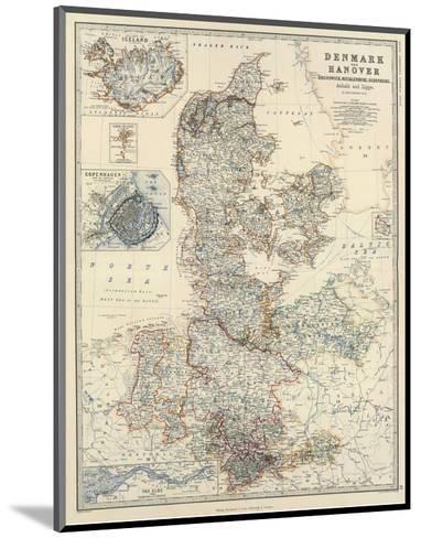 Denmark, Hanover, Brunswick, Mecklenburg, Oldenburg, c.1861-Alexander Keith Johnston-Mounted Art Print