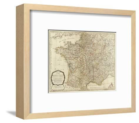 New Map of the Kingdom of France, c.1790-Thomas Kitchin-Framed Art Print