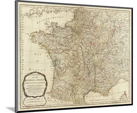 New Map of the Kingdom of France, c.1790-Thomas Kitchin-Mounted Art Print