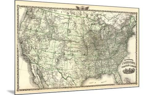 New Railroad Map of the United States and Dominion of Canada, c.1876-Warner & Beers-Mounted Art Print