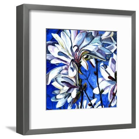 White Flower I-Mary Mclorn Valle-Framed Art Print