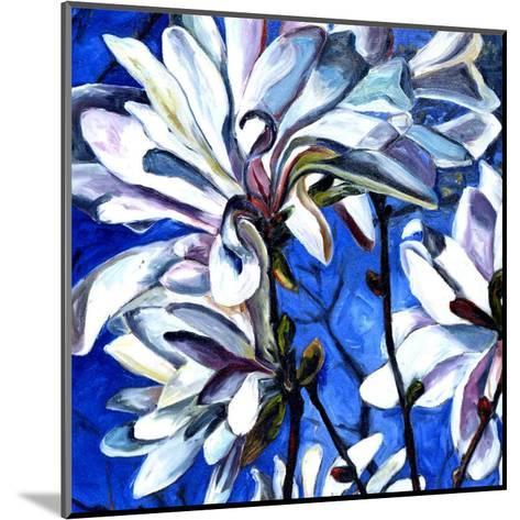 White Flower I-Mary Mclorn Valle-Mounted Art Print