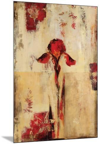 Rojo Floral II-Georgie-Mounted Art Print