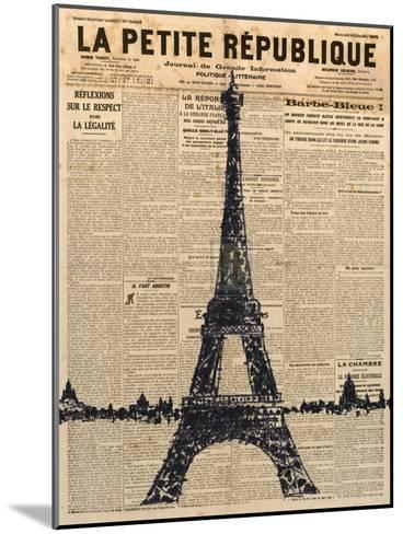 Paris Journal I-Maria Mendez-Mounted Art Print