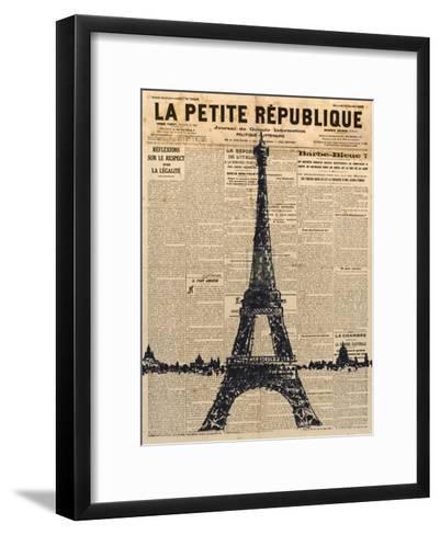 Paris Journal I-Maria Mendez-Framed Art Print