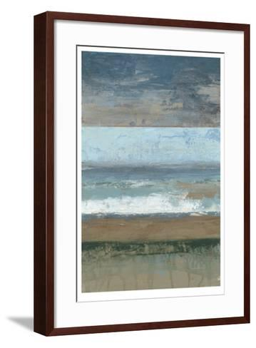 Coastal Abstract I-Jennifer Goldberger-Framed Art Print