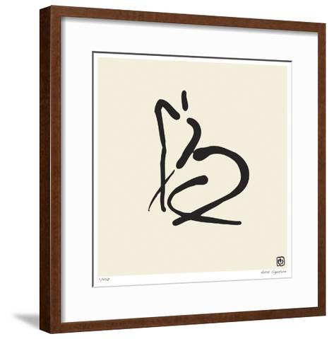 Abstract Female Nude II-Ty Wilson-Framed Art Print