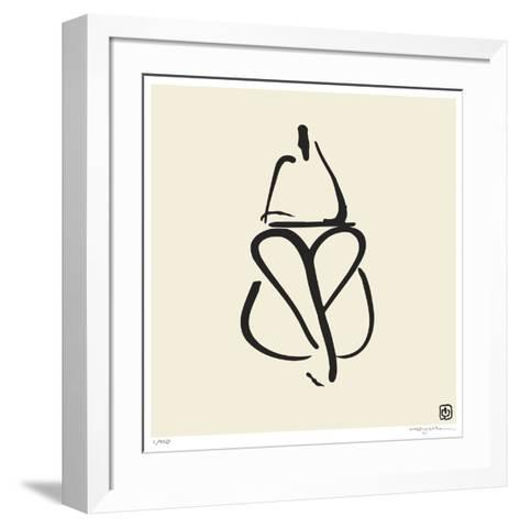 Abstract Female Nude III-Ty Wilson-Framed Art Print