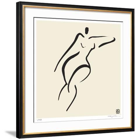 Abstract Female Nude V-Ty Wilson-Framed Art Print