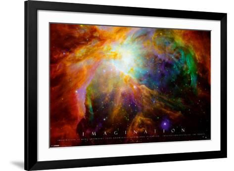 Imagination Nebula - Albert Einstein Quote--Framed Art Print