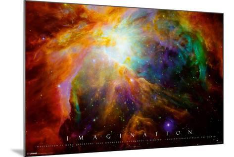 Imagination Nebula - Albert Einstein Quote--Mounted Poster