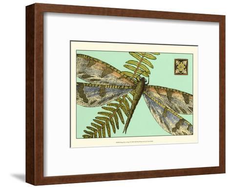 Dragonfly on Aqua I--Framed Art Print