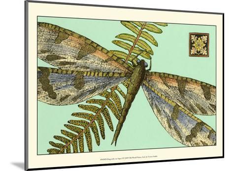 Dragonfly on Aqua I--Mounted Art Print