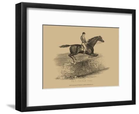 The Buck Jump--Framed Art Print