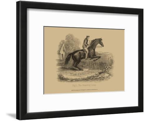 The Standing Leap--Framed Art Print
