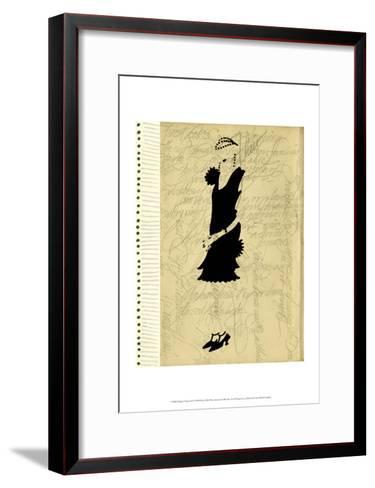 Flapper Fashion III-Elissa Della-piana-Framed Art Print