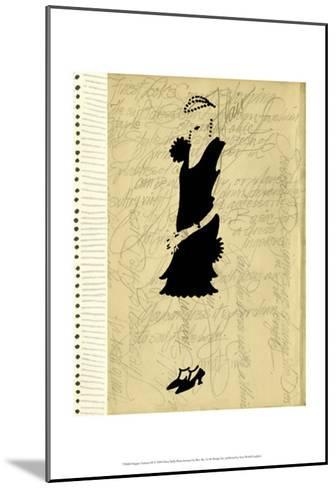Flapper Fashion III-Elissa Della-piana-Mounted Art Print