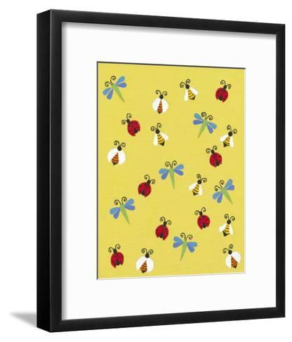 Busy Bees-Syeda Mleeha Shah-Framed Art Print