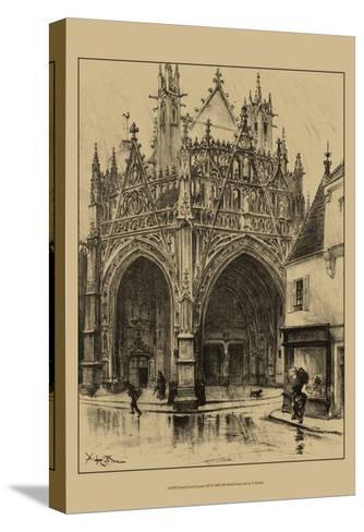 Ornate Facade I-Albert Robida-Stretched Canvas Print