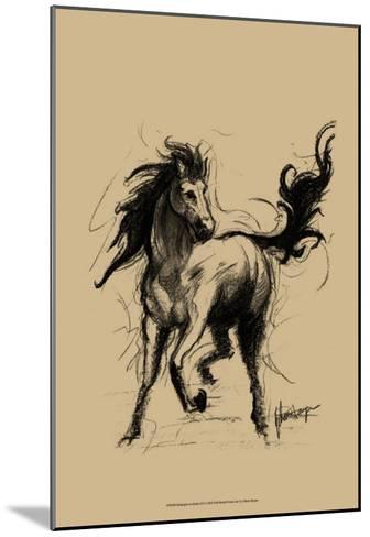 Midnight on Khaki--Mounted Art Print