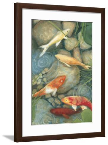 Reflecting Koi I-Megan Meagher-Framed Art Print