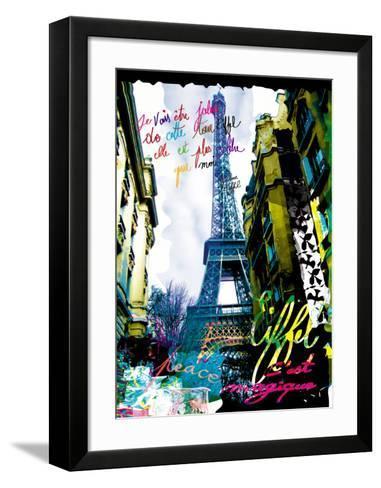 Magique Eiffel-Kaly-Framed Art Print