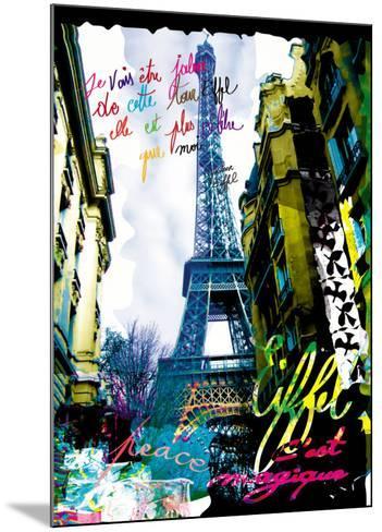 Magique Eiffel-Kaly-Mounted Art Print