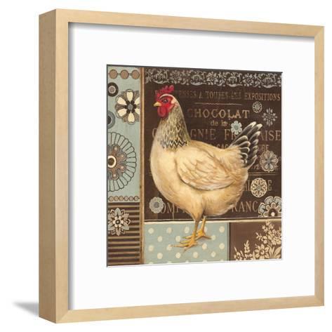 Aqua Rooster II-Kimberly Poloson-Framed Art Print