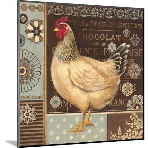 Aqua Rooster II-Kimberly Poloson-Mounted Art Print