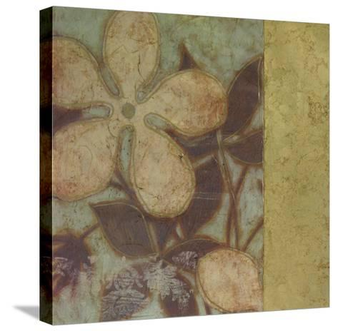 Embellished Time Worn Blossoms I--Stretched Canvas Print