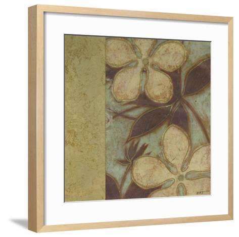Embellished Time Worn Blossoms II--Framed Art Print