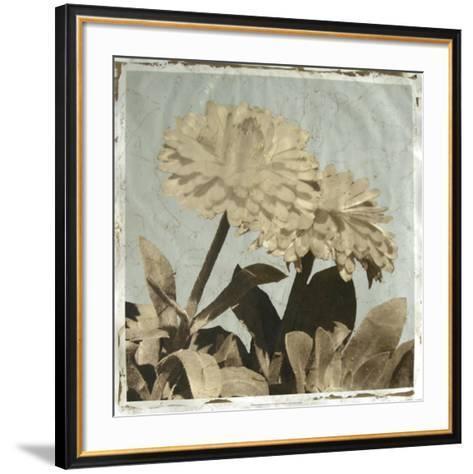 Antiqued Floral and Sky II-Megan Meagher-Framed Art Print