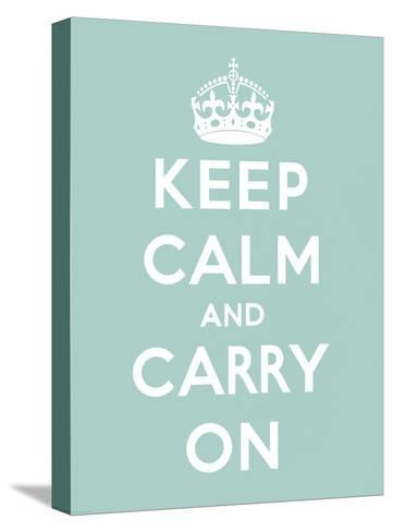 Keep Calm and Carry On-The Vintage Collection-Stretched Canvas Print