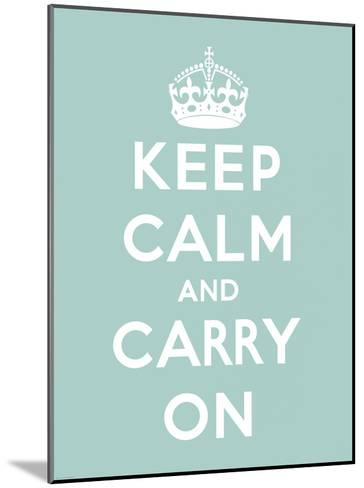 Keep Calm and Carry On-The Vintage Collection-Mounted Art Print