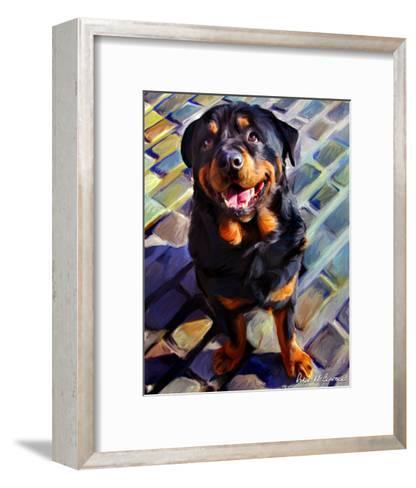 Handsome Rottie-Robert Mcclintock-Framed Art Print