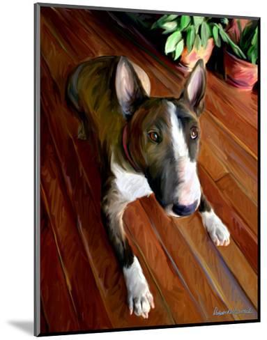 Bull Terrier Down-Robert Mcclintock-Mounted Art Print